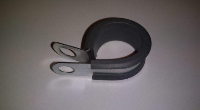 Obejmy metalowo – gumowe P-Clip cennik